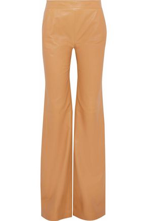 DEREK LAM Leather wide-leg pants