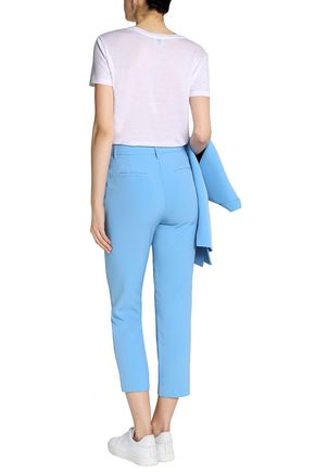 IRIS & INK Luca cropped twill straight-leg pants
