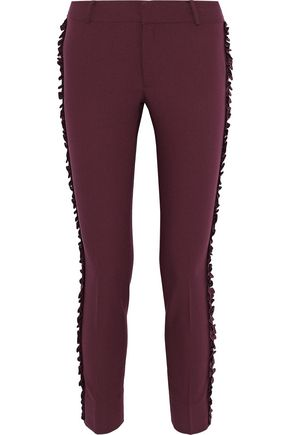 RAOUL Ruffled crepe slim-leg pants