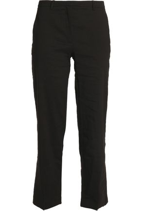 THEORY Linen-blend straight-leg pants