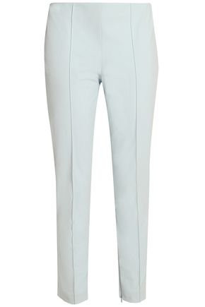 THEORY Alettah cropped stretch cotton-blend tapered pants