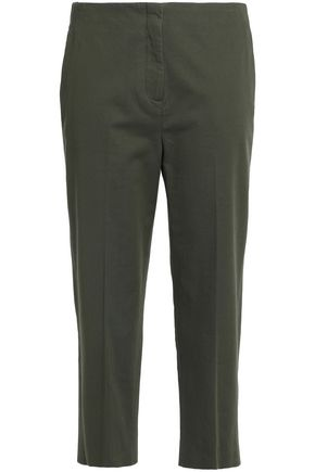 THEORY Cotton-twill tapered pants