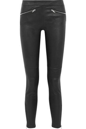 M MISSONI Leather skinny pants