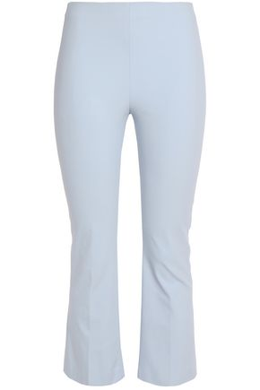 THEORY Cropped stretch cotton-blend flared pants