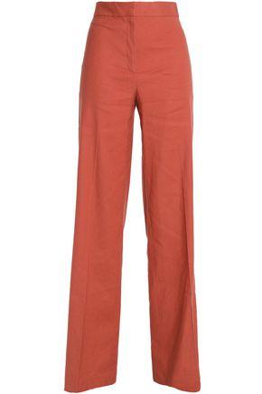 THEORY Linen-blend wide-leg pants