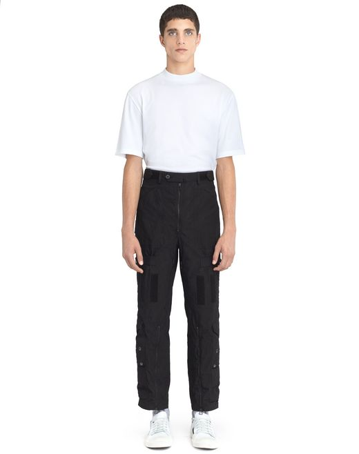 lanvin wide multi-pocket trousers men