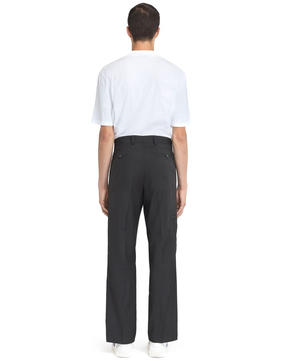 STRAIGHT-FIT TROUSERS WITH RIVETS - Lanvin