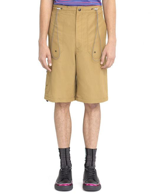 BEIGE SHORTS WITH ELASTIC WAISTBAND  - Lanvin
