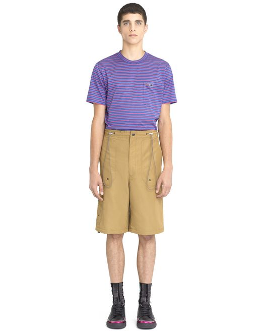 lanvin beige shorts with elastic waistband  men