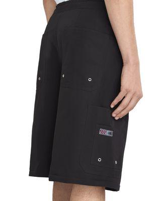 LANVIN BLACK SHORTS WITH ELASTIC WAISTBAND Pants U a