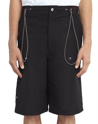 LANVIN BLACK SHORTS WITH ELASTIC WAISTBAND Pants U b