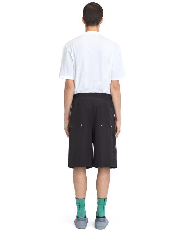 LANVIN BLACK SHORTS WITH ELASTIC WAISTBAND Pants U d