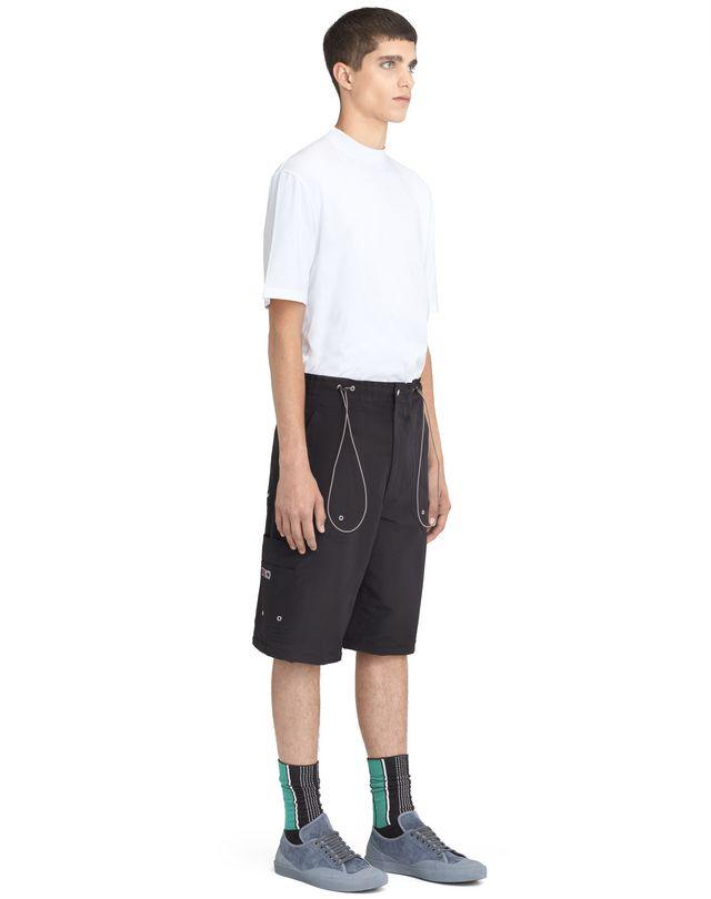 LANVIN BLACK SHORTS WITH ELASTIC WAISTBAND Pants U e
