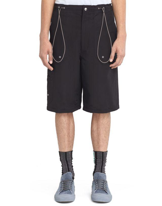 LANVIN BLACK SHORTS WITH ELASTIC WAISTBAND Pants U f
