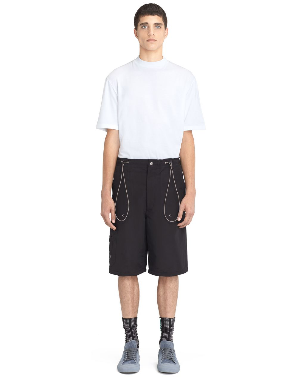 BLACK SHORTS WITH ELASTIC WAISTBAND  - Lanvin