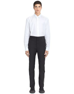 BLACK TROUSERS WITH JACQUARD BANDS