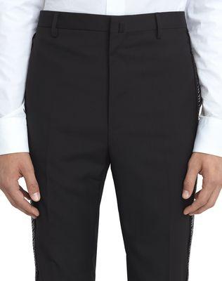 LANVIN BLACK TROUSERS WITH JACQUARD BANDS Pants U e