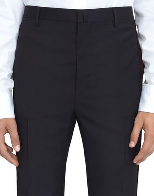LANVIN NAVY BLUE TROUSERS WITH JACQUARD BANDS Pants U b