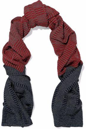 M MISSONI Metallic two-tone crochet-knit scarf