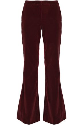 THEORY Stretch-cotton velvet flared pants