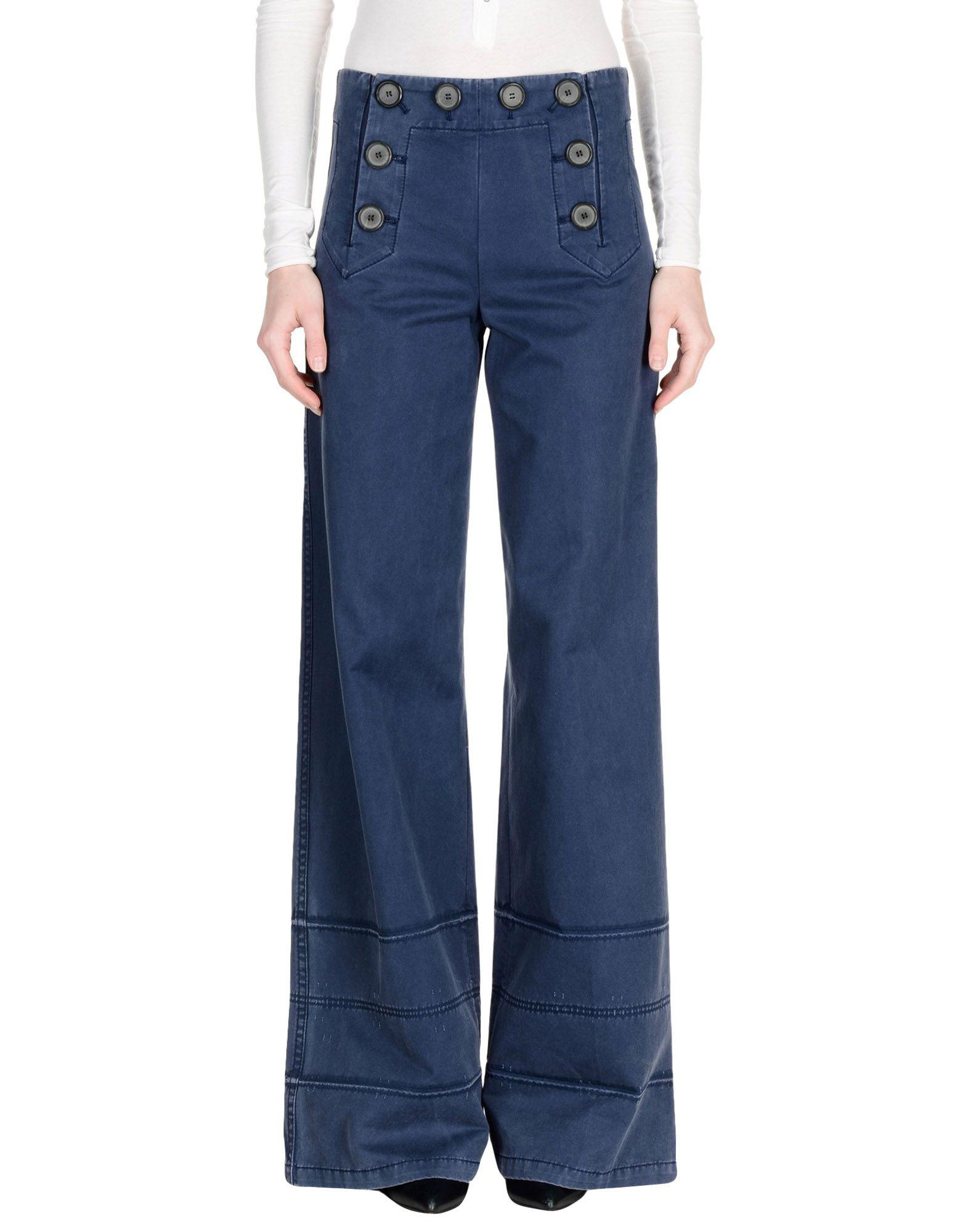 MARC BY JACOBS Damen Hose Farbe Taubenblau Größe 2