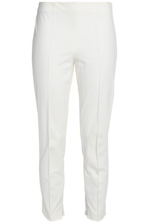 THEORY Cotton-blend slim-leg pants