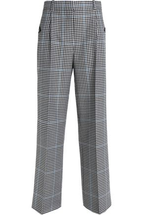 ALEXANDER WANG Gingham wool wide-leg pants
