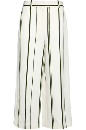 3.1 PHILLIP LIM Striped cotton and linen-blend culottes