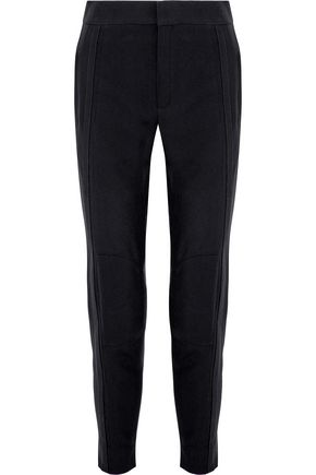 CHLOÉ Zip-detailed crepe skinny pants
