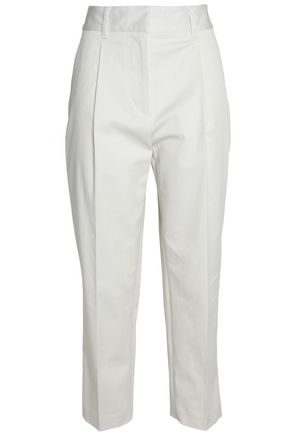 3.1 PHILLIP LIM Pleated cotton-blend twill tapered pants