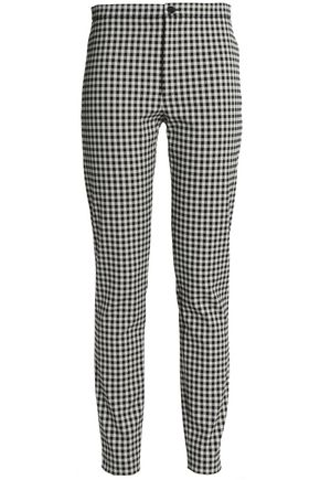 VICTORIA, VICTORIA BECKHAM Gingham cotton-blend tapered pants