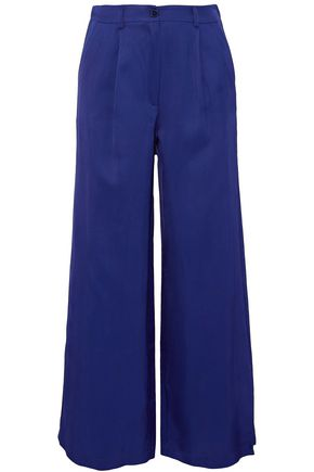 IRIS AND INK Gal pleated twill wide-leg pants