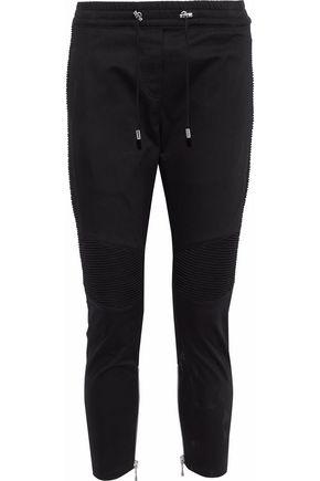BALMAIN Cotton-blend twill tapered pants