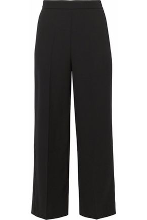 IRIS & INK Satin-trimmed crepe culottes