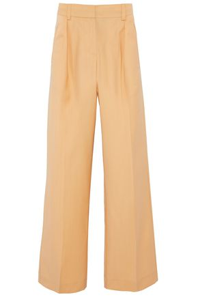 IRIS AND INK Bonnie pleated wool-blend wide-leg pants