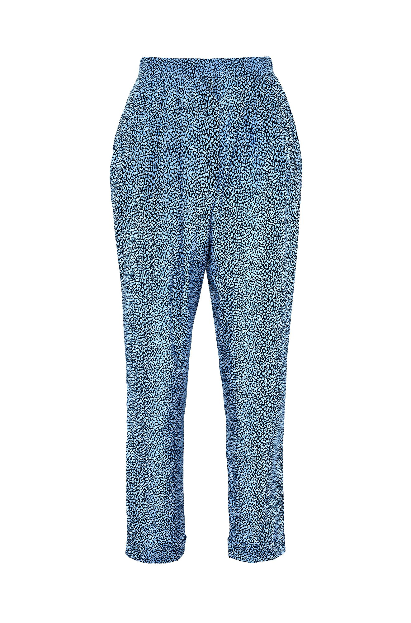 Trousers with micro animal print