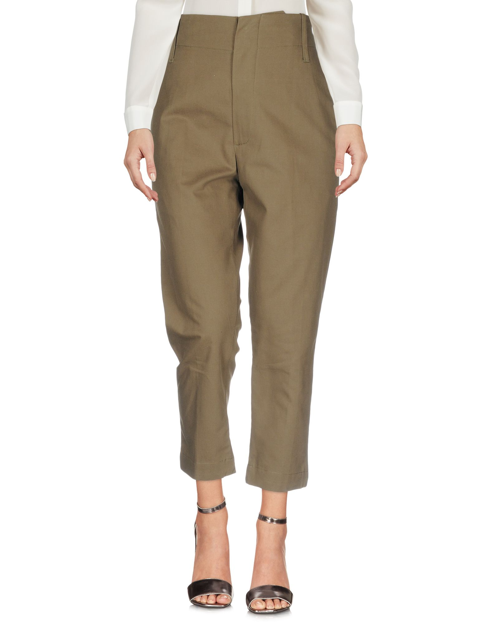 LAURENCE BRAS Casual Pants in Military Green