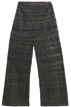 M MISSONI Metallic knitted wide-leg pants