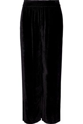 ALICE + OLIVIA Velvet wide-leg pants
