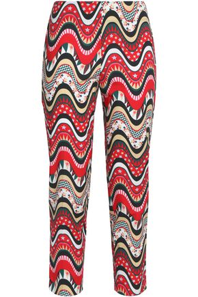 M MISSONI Printed cotton-blend straight-leg pants