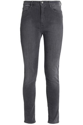 VICTORIA, VICTORIA BECKHAM Faded high-rise skinny jeans
