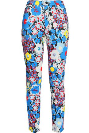 VICTORIA, VICTORIA BECKHAM Floral-print high-rise skinny jeans