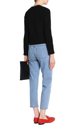 VICTORIA, VICTORIA BECKHAM Printed mid-rise straight-leg jeans