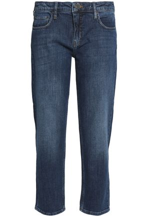 VICTORIA, VICTORIA BECKHAM Faded high-rise slim-leg jeans