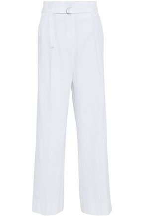 3.1 PHILLIP LIM Belted pleated gauze wide-leg pants