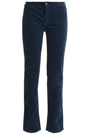 CURRENT/ELLIOTT Velvet straight-leg pants