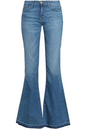 CURRENT/ELLIOTT Faded flared jeans
