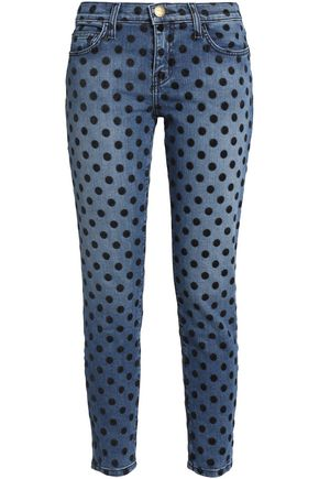CURRENT/ELLIOTT Printed skinny-leg jeans