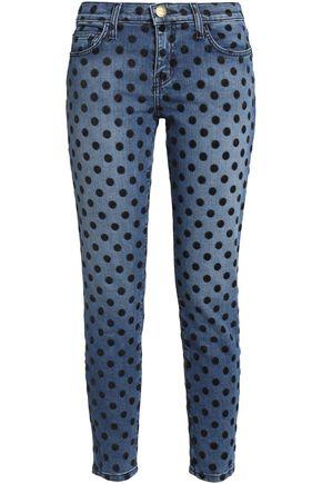 CURRENT/ELLIOTT Printed skinny-leg jeans
