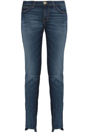 CURRENT/ELLIOTT Faded slim-leg jeans